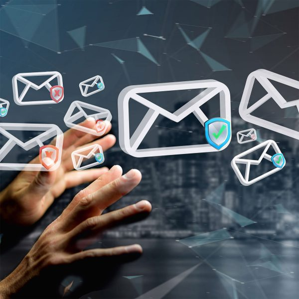 Emails approved and denied floating around two hands